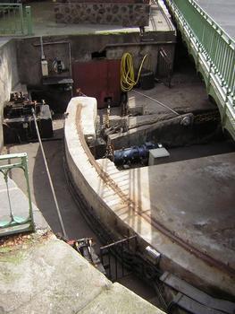 Mécanisme du pont tournant de la Grange-aux-Belles