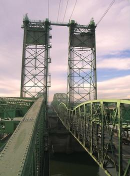 Interstate Bridge from on top of northbound lift span