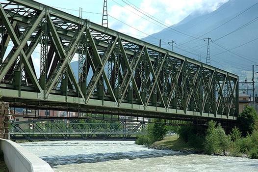 Pont ferroviaire sur le Rhône à Brig