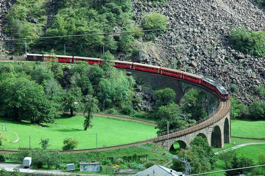 Helical viaduct at Brusio