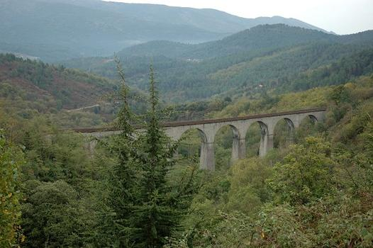 Malautière viaduct between Concoules and Villefort