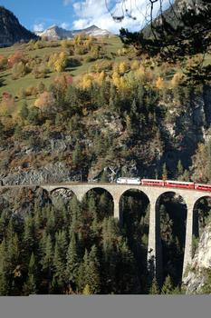 Landwasserviadukt in Filisur, Schweiz