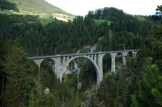 Wiesner Viadukt in Wiesen, Schweiz