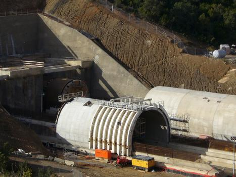 Tunnel du Perthus - France vue du tunnelier