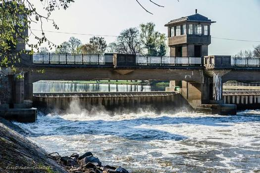 The Poděbrady Weir and the Power Plant on the Elbe River