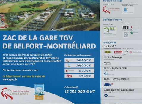 Gare TGV Belfort-Montbéliard; information projet