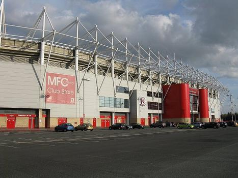 The Riverside Stadium, Middlesbrough from the north west corner