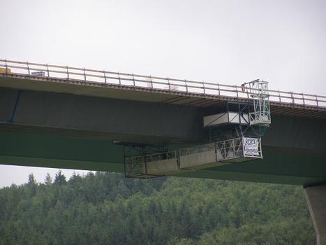 Bau der Dultenaugrabenbrücke (Süd) A 98
