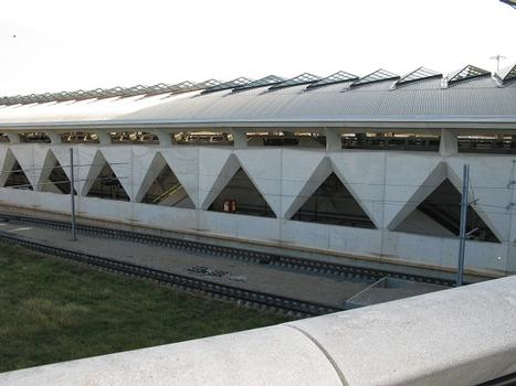 Lyon-St.Exupéry, TGV-Bahnhof