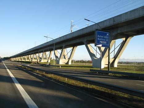 Viaduc de Battice, TGV-Strecke, Belgien