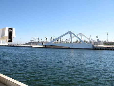 Pont tournant du port de Valencia