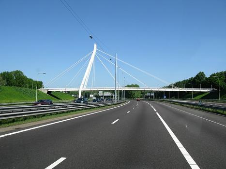 Rotterdam, Fußgängerbrücke Feijenoord über die A16