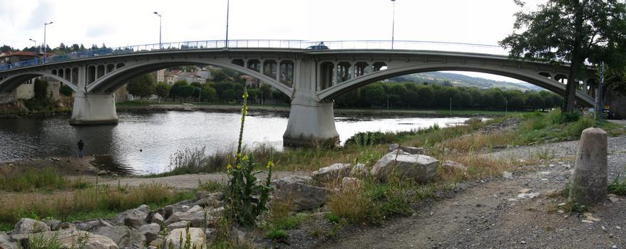 St.Just-St.Rambert: innerstädtische Brücke über die Loire