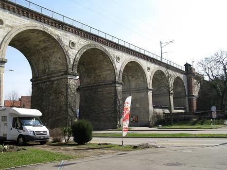 Eisenbahn-Rheinbrücke Koblenz (Aargau) - Waldshut