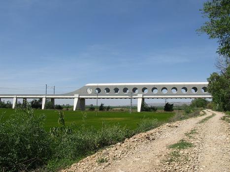 Osera, Hochgeschwindigkeitsviadukt über den Ebro