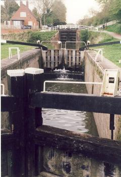 Devizes (England), Caen Hill Locks Schleusenstaffel
