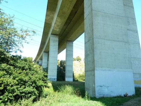 Brenztalviadukt der Autobahn A7 bei Giengen an der Brenz