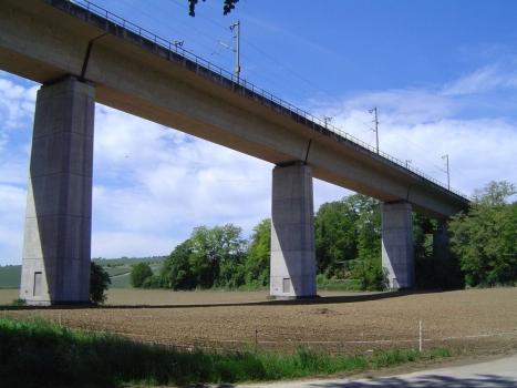 Oberbruch-Talbrücke der Neubaustrecke Mannheim - Stuttgart