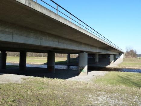 Brücke der Autobahn A5 über die Murg bei Rastatt