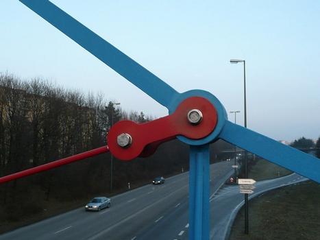 Kettenbrücke Neuperlach Detail Knoten