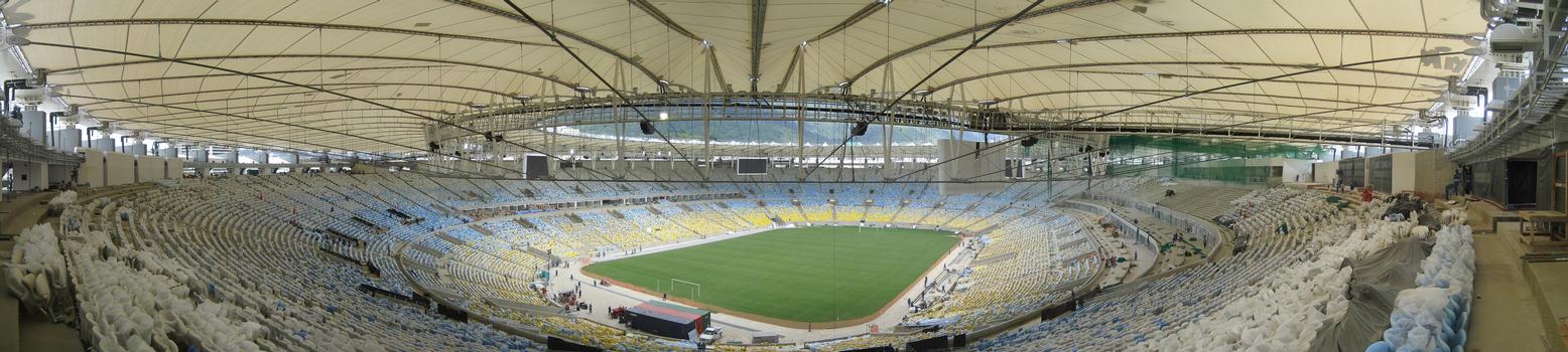 Das Maracanã-Stadion in Rio wurde zur WM 2014 für knapp 316 Millionen Euro umgebaut : Das Maracan ã -Stadion in Rio wurde zur WM 2014 für knapp 316 Millionen Euro umgebaut