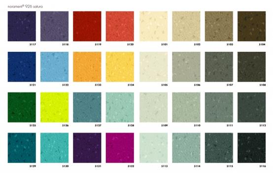 norament satura Farbspektrum