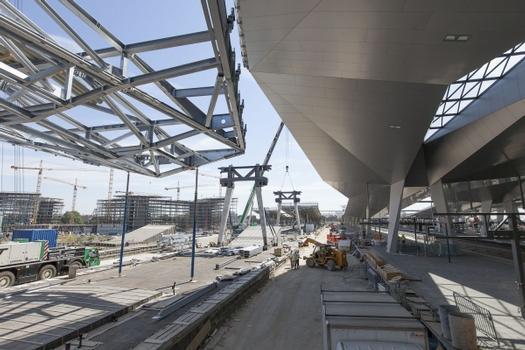 Wien Hauptbahnhof, Rautendach aus Stahl am Wiener Hauptbahnhof: Unger startet in die finale Bauphase
