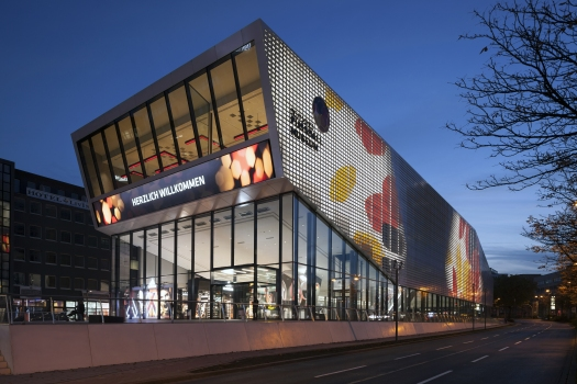 Standing out from the crowd: The German Football Museum is an impressive monument to the legend of football.  : Standing out from the crowd: The German Football Museum is an impressive monument to the legend of football.