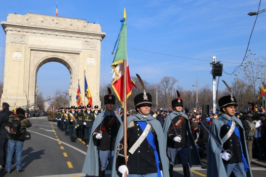 1 December, the National Day, the traditional parade finally could again move through the freshly renovated Triumphal Arch. : 1 December, the National Day, the traditional parade finally could again move through the freshly renovated Triumphal Arch.
