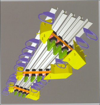 3D view of a swivel joist expansion joint from below