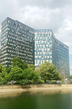 "Orhideea Towers : The ""Orhideea Towers"" 2018 in the district of the same name west of the centre of Bucharest."