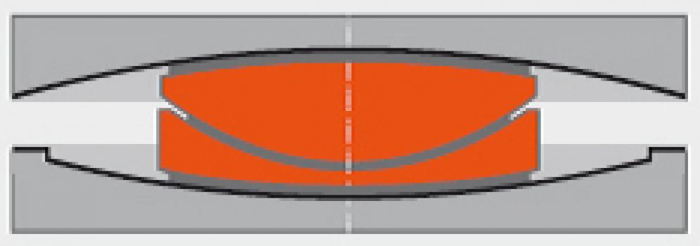 Querschnitt eines Lagers : Querschnitt durch ein SIP-DR-Lager