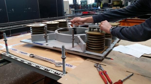 Bearing being manufactured