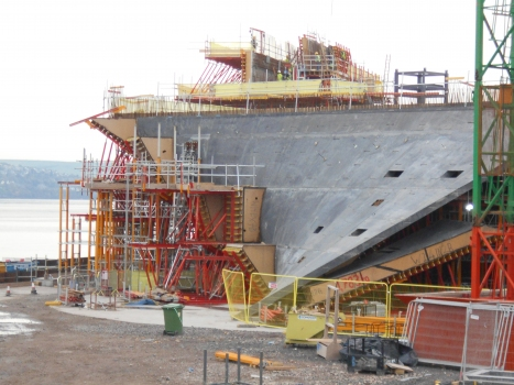 The V&A Museum in Dundee during construction