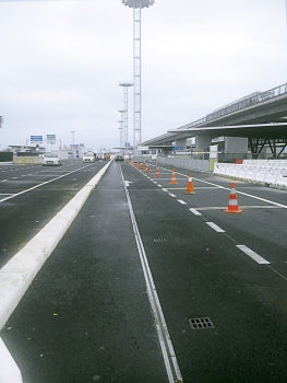 Parking lots in front of the southern terminal of Orly Airport