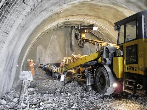 Arbeiten in der Tunnelröhre