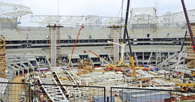 Das Allianz Parque Stadion während der Umbauphase