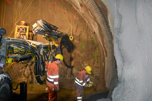 Works in the Arlberg Tunnel