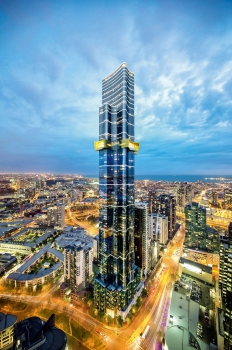 With a total height of 319 m, the Australia 108 is the country´s second tallest building.