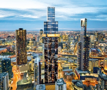 Australia 108 is located in Melbourne's Southbank District and will include 1,105 apartments on 100 floors.