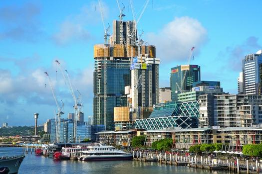 The three ITS high-rise towers for the centre of the ambitious Barangaroo South project in the Sydney harbour area.  : The three ITS high-rise towers for the centre of the ambitious Barangaroo South project in the Sydney harbour area.