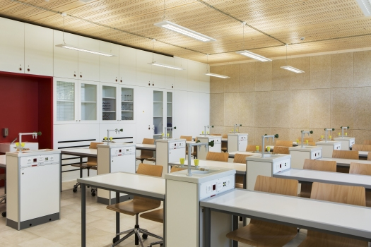 Lycée technique pour professions de santé:L'une des six salles de classe cliniques