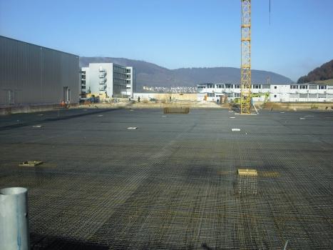 Industrieboden mit 220 cm Plattenstärke für Produktionshallen der Carl Zeiss AG, Oberkochen : Industrieboden mit 220 cm Plattenstärke für Produktionshallen der Carl Zeiss AG, Oberkochen