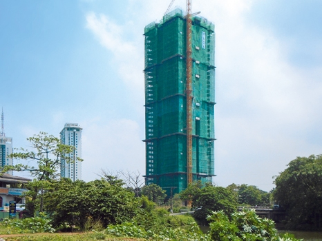 The 46 level high Clearpoint Tower will be the tallest vertical garden in Asia.