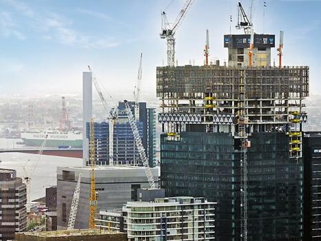 Der Tower Two ist Teil eines der größten gewerblichen Bauprojekte Australiens.