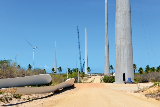 Aracati Wind Park consists of 47 new wind towers, each of which is 120 m high.