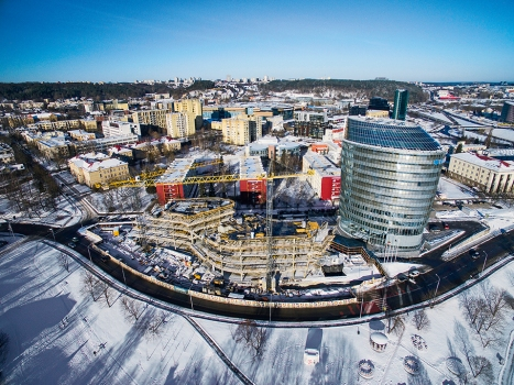 Centrally located in Vilnius, Green Hall 2 is being built.