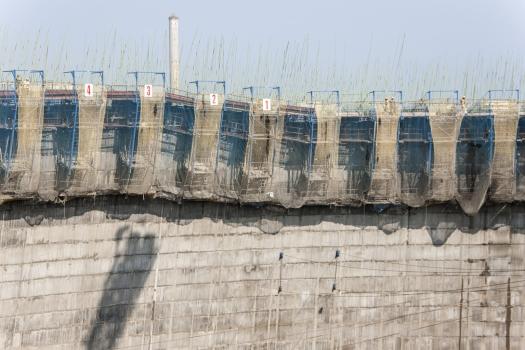 Die Doka-Kühlturmschalung SK175 ermöglicht Betonierabschnitte im 1-Tages-Takt.
