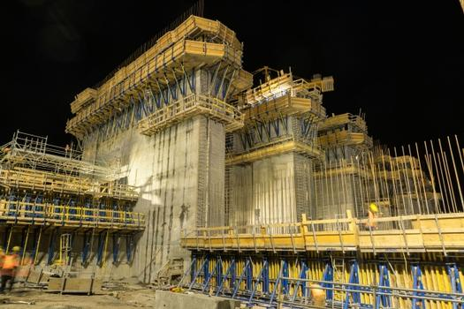 Night shift during construction