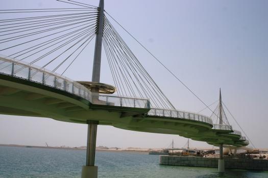 The bridge design resembles a necklace with interlocking ellipses.